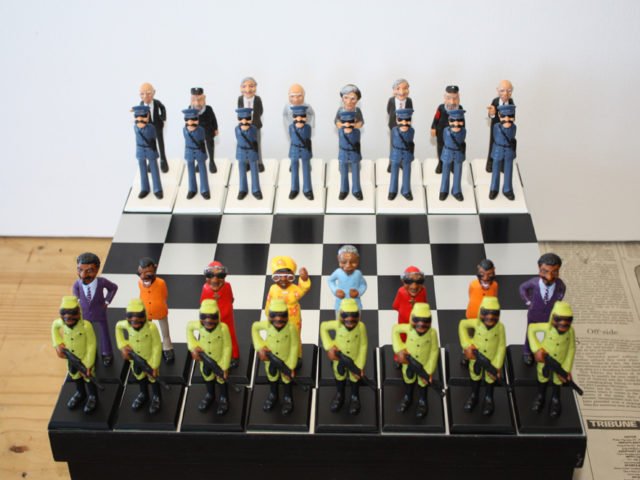Hand sculpted one off and Limited Edition Portrait Chess sets